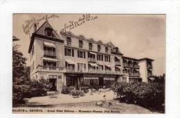Cpa SALEVE SOUS GENEVE Grand Hôtel Bellevue Monnetier Mornex - Combloux