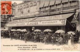NICE - Terrasse Du Café Riviera Glacier  .     (68414) - Nice