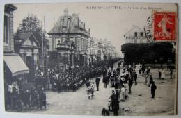 FRANCE - YVELINES - MAISONS-LAFFITTE - Arrivée D'un Régiment  1911 - Maisons-Laffitte