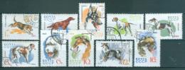 SOWJETUNION Mi-Nr. 3020 - 3029 Dienst- Und Jagdhunde Gestempelt - Hunde