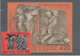 CARTE MAXIMUM Héros De La Résistance (oblit. SURESNES 18.6.1993) - Cartoline Maximum