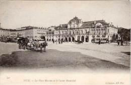 NICE - La Place Masséna Et Le Casino Municipal - Attelage  - Tramway (68443) - Nice