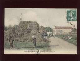 91 Marolles En Hurepoix Quartier De La Citadelle édit. Breger Couleur Scène De Battage Machine à Vapeur , Animée - France