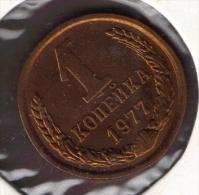 RUSSIA CCCP 1 KOPEK 1977 - Rusia