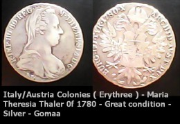 Italy/Austria Colonies ( Erythree ) - 1935 - Maria Theresia Thaler 0f 1780 - Great Condition - Silver - Gomaa - Eritrea