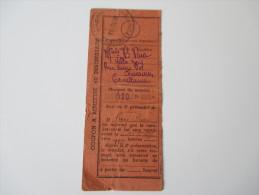 Einlieferungssschein / Postschein 1939 Marokko / Casablanca. Coupon A Remettre Au Destinataire 100 Francs - Rechnungen