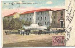 CPA Roma Rome Piazza Di Termini Fontana Dell Acqua Marcia - Places & Squares