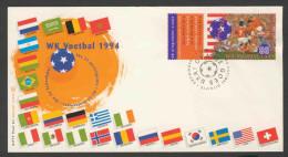 Nederland Netherlands Pays Bas 1994 Cover / Briefstück + Mi 1516 - World Cup Football Champ. 1994 USA/ Fußball-WM - World Cup