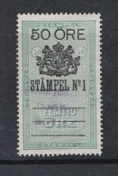 TAX REVENUE STEMPELMERKE STEUERMARKE TIMBRE FISCAL SWEDEN SCHWEDE SUEDE Early 1900-ties 50 Ore - StämpelNo1 - Revenue Stamps