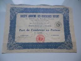 BOUCHERIES DUPONT(1929) - Aandelen