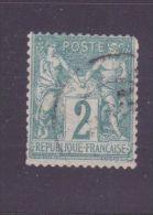 "FRANCE N°62 \""SAGE 2c VERT N SOUS B \"" OBLITERE TB - France"