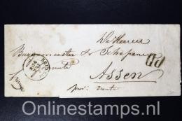Belgium:  Newspaper Wrap 1856 Bruxelt To Ruromonde /Roermond Holland - Belgium