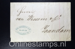 Germany, Complete Letter Koenigsberg  To Zaandam Holland 1879
