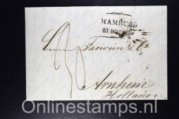 Germany, Complete Letter Hamburg To Arnhem  To Holland 1852 - Hamburg