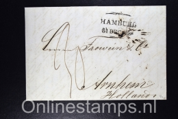 Germany, Complete Letter Hamburg To Arnhem  To Holland 1852