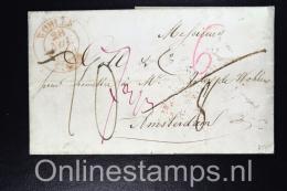 Switserland , Complete Letter Wohlen To Amsterdam, Holland, 1840, Duitsch-Grensk. Te Arnhem - Schweiz