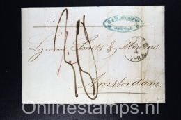 Switserland , Cover Corcelles To Amsterdam, Holland, 1857, Nice Cancels - Brieven En Documenten