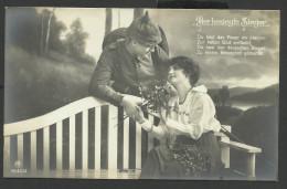 14-18 - CPA ALLEMANDE -  FEMME ET SOLDAT - DER BESIEGFE SIEGER - War 1914-18