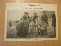 Macedonia - Outdoor Barber Shop  - Grande Guerre    WWI-1914-18 -print   W238 - Militaria