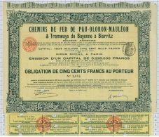 Chemins De Fer De Pau - Oloron - Mauleon Et Tramways De Bayonne à Biarritz - Chemin De Fer & Tramway
