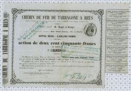 Chemins De Fer De Tarragone à Reus, Ragel Et Cie, 1853 - Chemin De Fer & Tramway