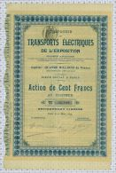 Cie Des Transports Electriques De L'Exposition - Electricité & Gaz