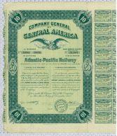 Company General Of Central America Atlantic Pacific Railway, Arizona, Signature Armstrong - Chemin De Fer & Tramway