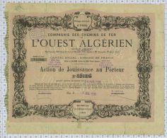 Cie Des Chemins De Fer De L'Ouest Algerien (etat Moyen) - Chemin De Fer & Tramway