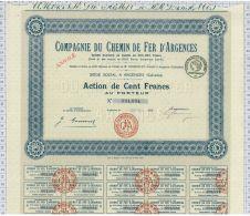 Cie Du Chemin De Fer D'Argences, Calvados - Chemin De Fer & Tramway