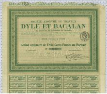 Sa De Travaux Dyle Et Bacalan - Chemin De Fer & Tramway