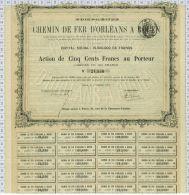Cie Du Chemin De Fer D'Orléans à Rouen, 1875 - Chemin De Fer & Tramway