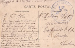 COTE D'OR - GROUPE TERRITORIAL DU 7e REGIMENT D'ARTILLERIE A PIED - 5e BATTERIE - LE 20-10-1914 -CARTE BATTERIES SERBES - 1. Weltkrieg 1914-1918