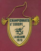 W44  / SPORT - European Championship 1973 LAUSANNE Wrestling Lutte Ringen - 8.5  X 10.0 Cm. Wimpel Fanion Flag Suisse - Lotta (Wrestling)