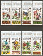 Rwanda 1970 Mi# 384-391 A ** MNH - 9th World Soccer Championships For The Jules Rimet Cup, Mexico City - Rwanda