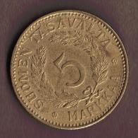 FINLANDE 5 MARKKA 1941 S - Finlandia
