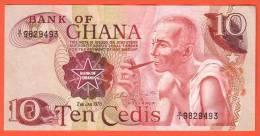 GHANA - 10 Cédis  Du  02 01 1978  - Pick 16d - Ghana