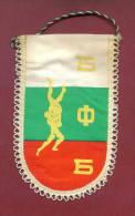 W97 / SPORT - BULGARIAN FEDERATION Wrestling Lutte Ringen  - 9  X 15.5 Cm. Wimpel Fanion Flag Bulgaria Bulgarie - Lucha