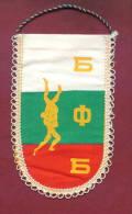W98 / SPORT - BULGARIAN FEDERATION Wrestling Lutte Ringen  - 9  X 15.5 Cm. Wimpel Fanion Flag Bulgaria Bulgarie - Lucha