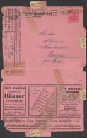 Allemagne 1921. Carte-lettre Annonces. Bad Salzuflen. Vélos, Motos, Pneus En Caoutchouc, Cigares, Vin, Bière, Tapis - Vélo