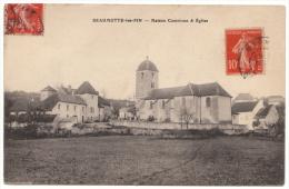 70 - BEAUMOTTE LES PIN - Maison Commune Et Église - 1914 - Rare - Otros Municipios