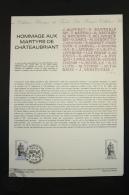Official La Poste France -Philatelic First Day Document: Hommage Aux Martyrs De Châteaubriant -Premier Jour 12 Dec. 1981 - Documentos Del Correo