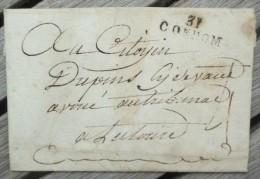 Lettre Ancienne Marque Postale 31/CONDOM Gers Pour Lectoure - Marcophilie (Lettres)