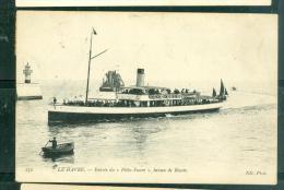 """N°  232     - Le Havre -    Entrée Du """" Félix Faure """" Bateau De Rouen  -  LFN120 - Ferries"""