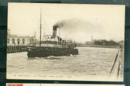 """N°18  -  Trouville  - Le """"Trouville """" Sortant Du Port    -  LFN140 - Ferries"""