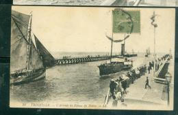 N°56  Trouville  -     L'arrivée  Du Bateau Du Havre    -  LFN142 - Ferries
