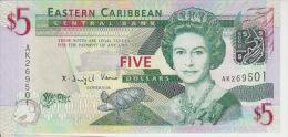 East Carribeans  5 Dollars 2008 Pick 47 UNC - Caraïbes Orientales