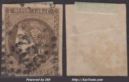 *PROMO* 30c Bordeaux Oblitéré Aspect TB (Dallay N° 47 , Cote 300€) - 1870 Bordeaux Printing