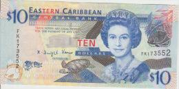 East Carribeans  10 Dollars 2008 Pick 48 UNC - Caraïbes Orientales