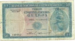 PORTUGAL BANKNOTE TIMOR - 50 ESCUDOS 24/10/1967 - Portugal
