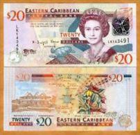 East Carribeans  20 Dollars 2008 Pick 49 UNC - East Carribeans